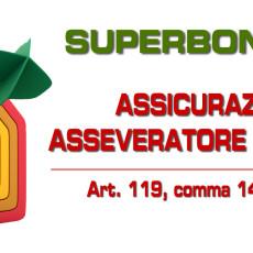 SUPERBONUS 110%: RC asseveratore.